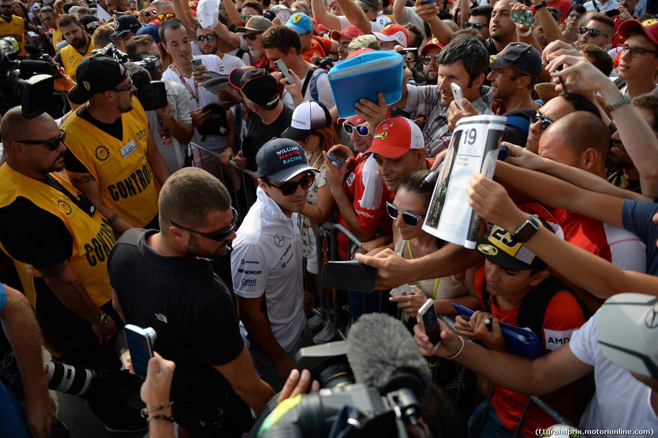 GP ITALIA, 03.09.2016 - Prove Libere 3, Felipe Massa (BRA) Williams FW38