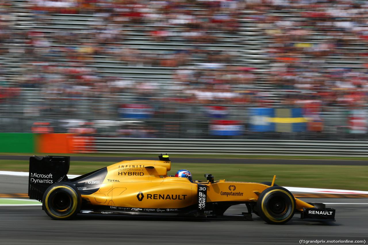 GP ITALIA, 03.09.2016 - Prove Libere 3, Jolyon Palmer (GBR) Renault Sport F1 Team RS16