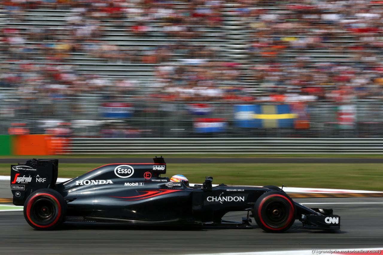 GP ITALIA, 03.09.2016 - Prove Libere 3, Fernando Alonso (ESP) McLaren Honda MP4-31