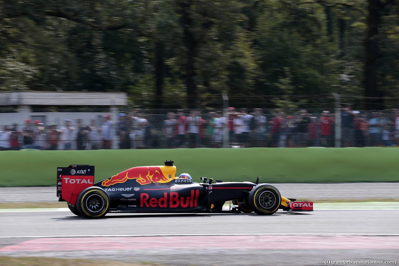GP ITALIA, 03.09.2016 - Prove Libere 3, Daniel Ricciardo (AUS) Red Bull Racing RB12