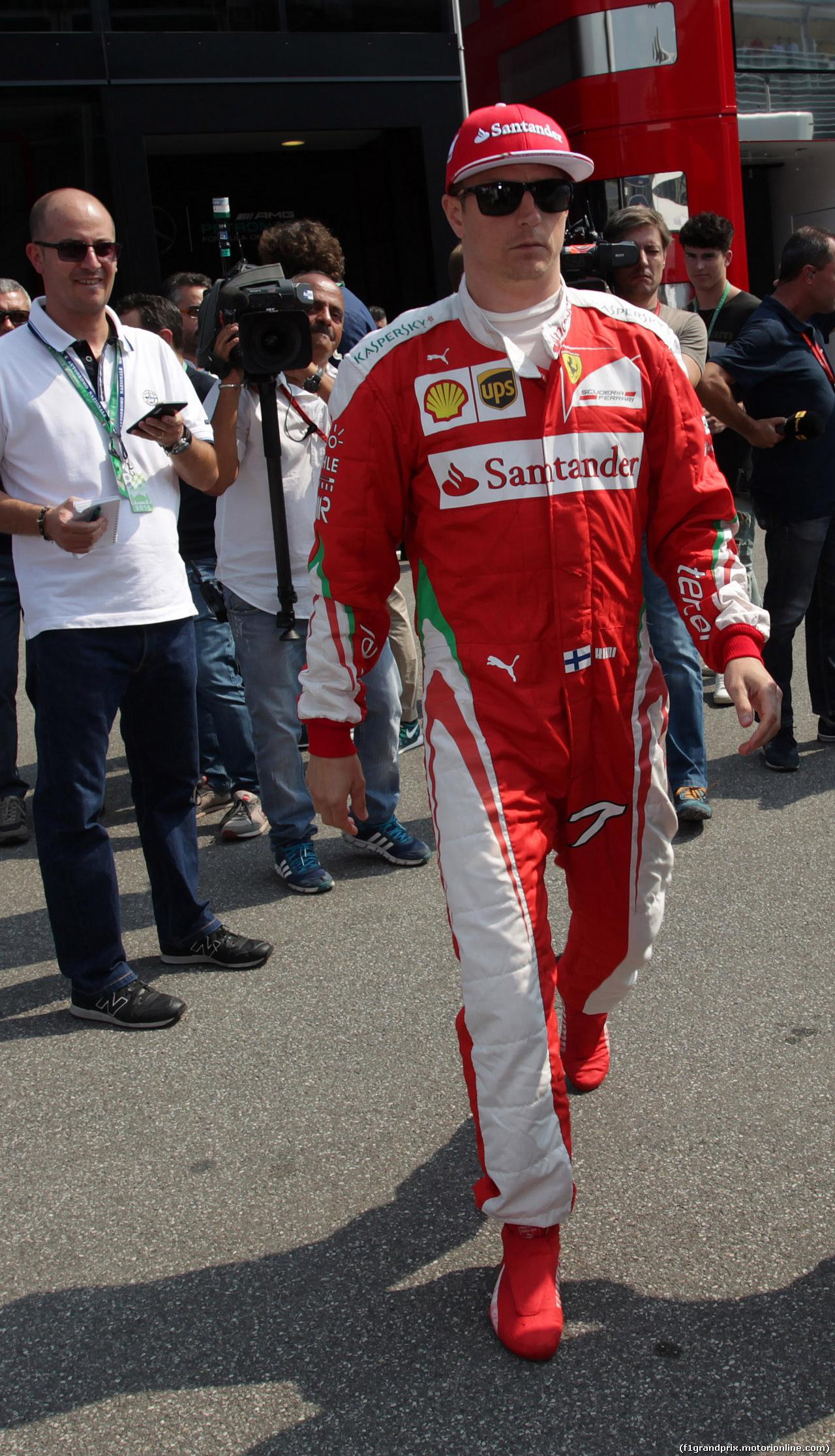 GP ITALIA, 03.09.2016 - Kimi Raikkonen (FIN) Ferrari SF16-H