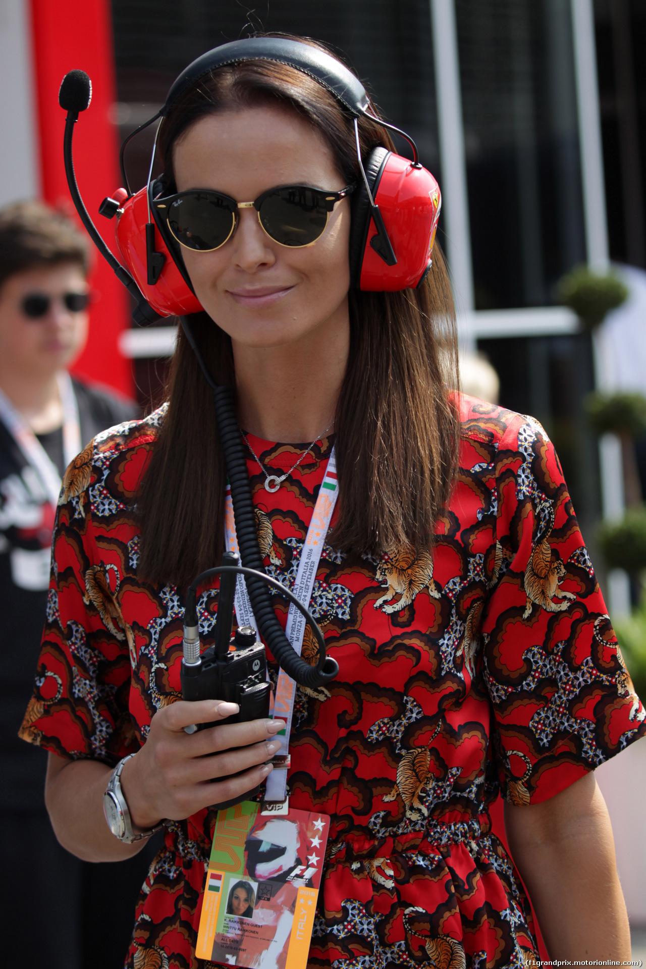 GP ITALIA, 03.09.2016 - Minttu Raikkonen, wife of Kimi Raikkonen (FIN)