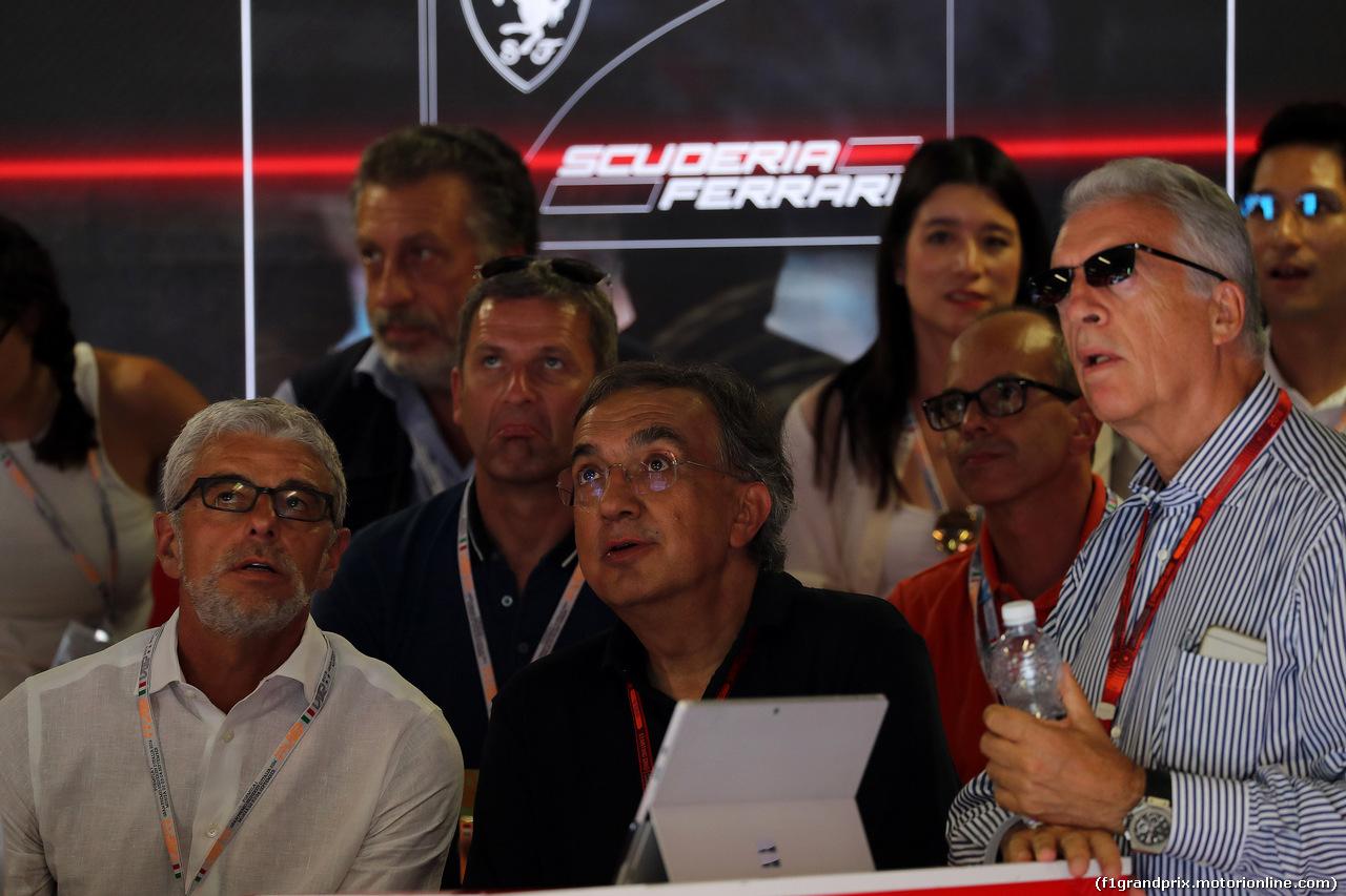 GP ITALIA, 03.09.2016 - Qualifiche, Sergio Marchionne (ITA), Ferrari President e CEO of Fiat Chrysler Automobiles  e Piero Ferrari (ITA) Vice-President Ferrari