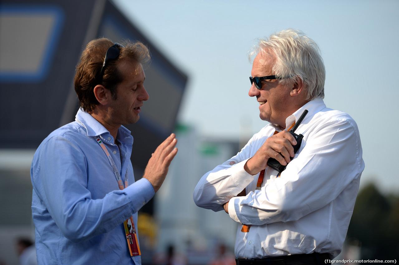 GP ITALIA, 03.09.2016 -  Jarno Trulli (ITA) e Charlie Whiting (GBR), Gara director e safety delegate