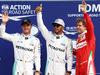 GP ITALIA, 03.09.2016 - Qualifiche, secondo Nico Rosberg (GER) Mercedes AMG F1 W07 Hybrid, Lewis Hamilton (GBR) Mercedes AMG F1 W07 Hybrid pole position e terzo Sebastian Vettel (GER) Ferrari SF16-H