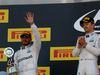 GP RUSSIA, 01.05.2016 - Gara, secondo Lewis Hamilton (GBR) Mercedes AMG F1 W07 Hybrid e Nico Rosberg (GER) Mercedes AMG F1 W07 Hybrid vincitore