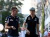 GP SINGAPORE, 18.09.2016 - Daniil Kvyat (RUS) Scuderia Toro Rosso STR11 e Nico Hulkenberg (GER) Sahara Force India F1 VJM09