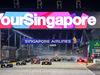GP SINGAPORE, 18.09.2016 - Gara, Nico Rosberg (GER) Mercedes AMG F1 W07 Hybrid davanti a at the partenza of the race as Nico Hulkenberg (GER) Sahara Force India F1 VJM09 crashes out.