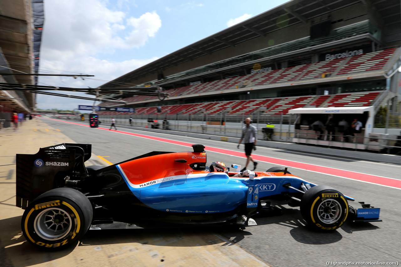 TEST F1 BARCELLONA 17 MAGGIO, Pascal Wehrlein (GER), Manor Racing  17.05.2016.