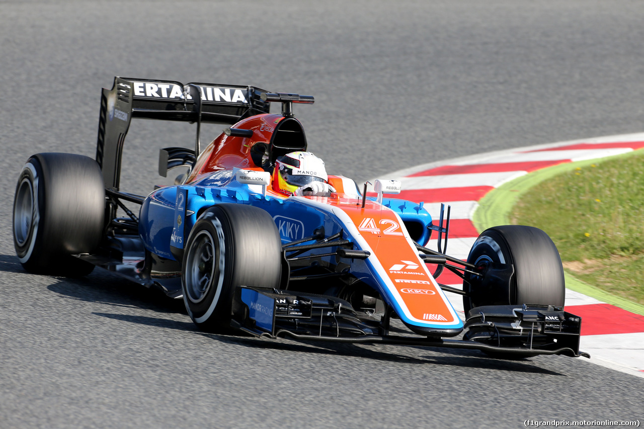 TEST F1 BARCELLONA 18 MAGGIO, Jordan King (GBR), Manor F1 Team   18.05.2016.