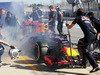 TEST F1 BARCELLONA 1 MARZO, Daniil Kvyat (RUS) Red Bull Racing RB12 with smoke at the rear wheel. 01.03.2016.