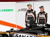 TEST F1 BARCELLONA 22 FEBBRAIO, (L to R): Nico Hulkenberg (GER) Sahara Force India F1 e team mate Sergio Perez (MEX) Sahara Force India F1 with the Sahara Force India F1 VJM09. 22.02.2016.