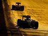 TEST F1 BARCELLONA 24 FEBBRAIO, Lewis Hamilton (GBR) Mercedes AMG F1 W07 Hybrid davanti a Kimi Raikkonen (FIN) Ferrari SF16-H. 24.02.2016.
