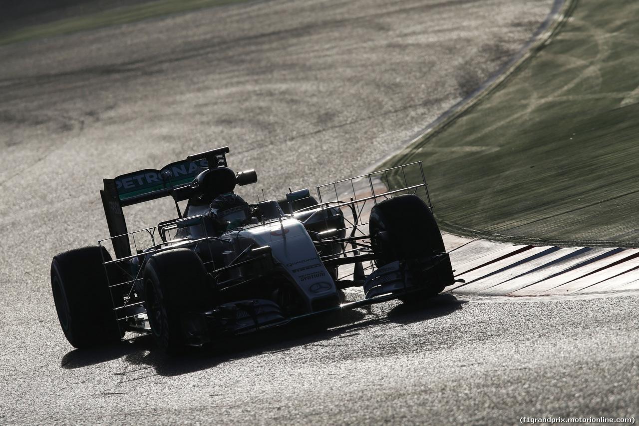 TEST F1 BARCELLONA 24 FEBBRAIO, Nico Rosberg (GER) Mercedes AMG F1 W07 Hybrid running sensor equipment. 24.02.2016.