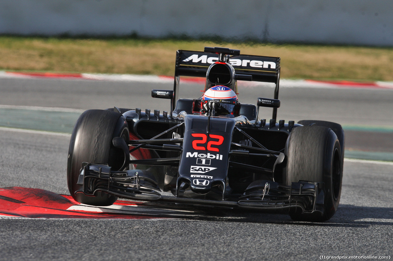 TEST F1 BARCELLONA 24 FEBBRAIO, Jenson Button (GBR) McLaren MP4-31. 24.02.2016.