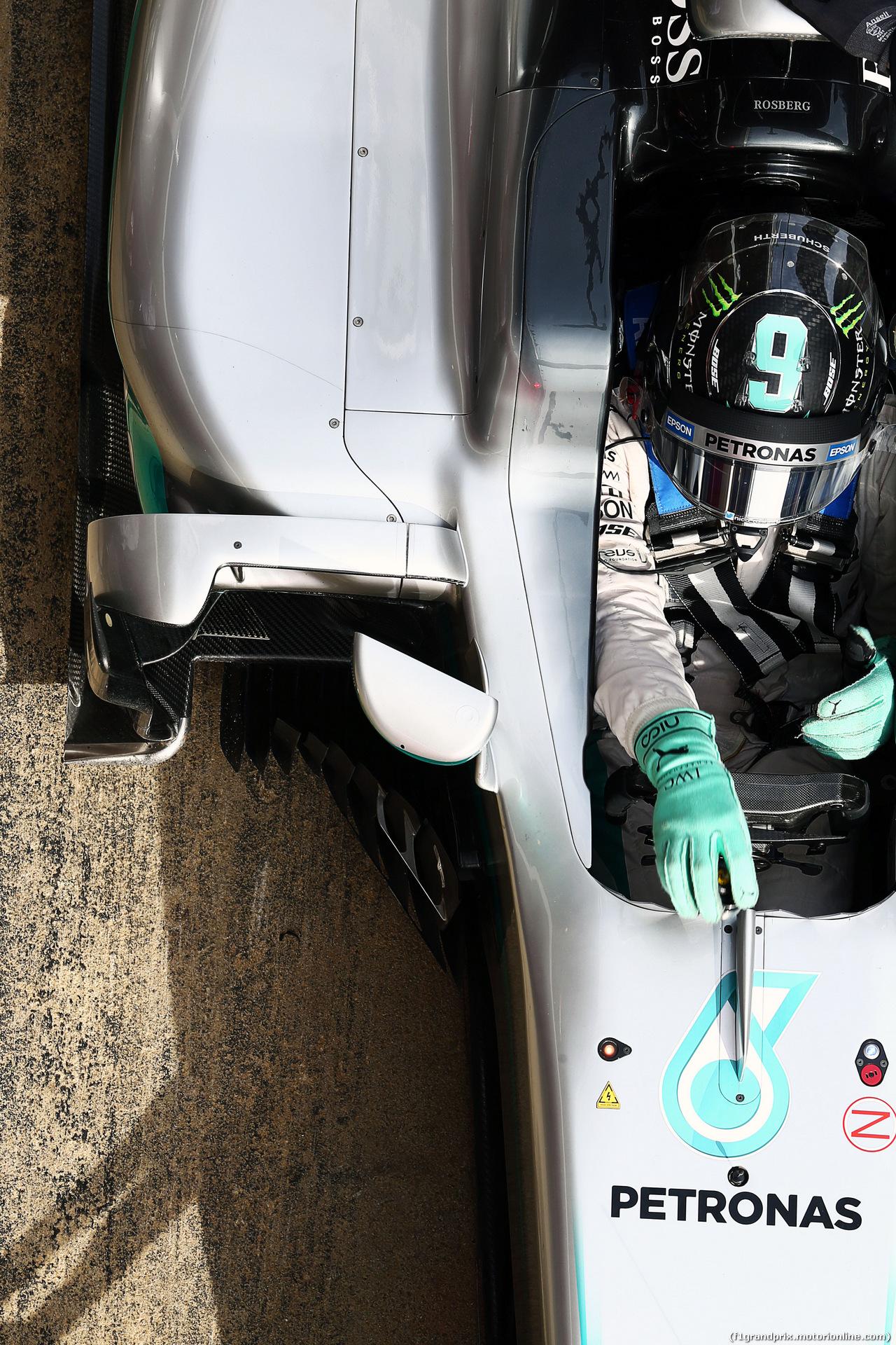TEST F1 BARCELLONA 24 FEBBRAIO, Nico Rosberg (GER) Mercedes AMG F1 W07 Hybrid. 24.02.2016.