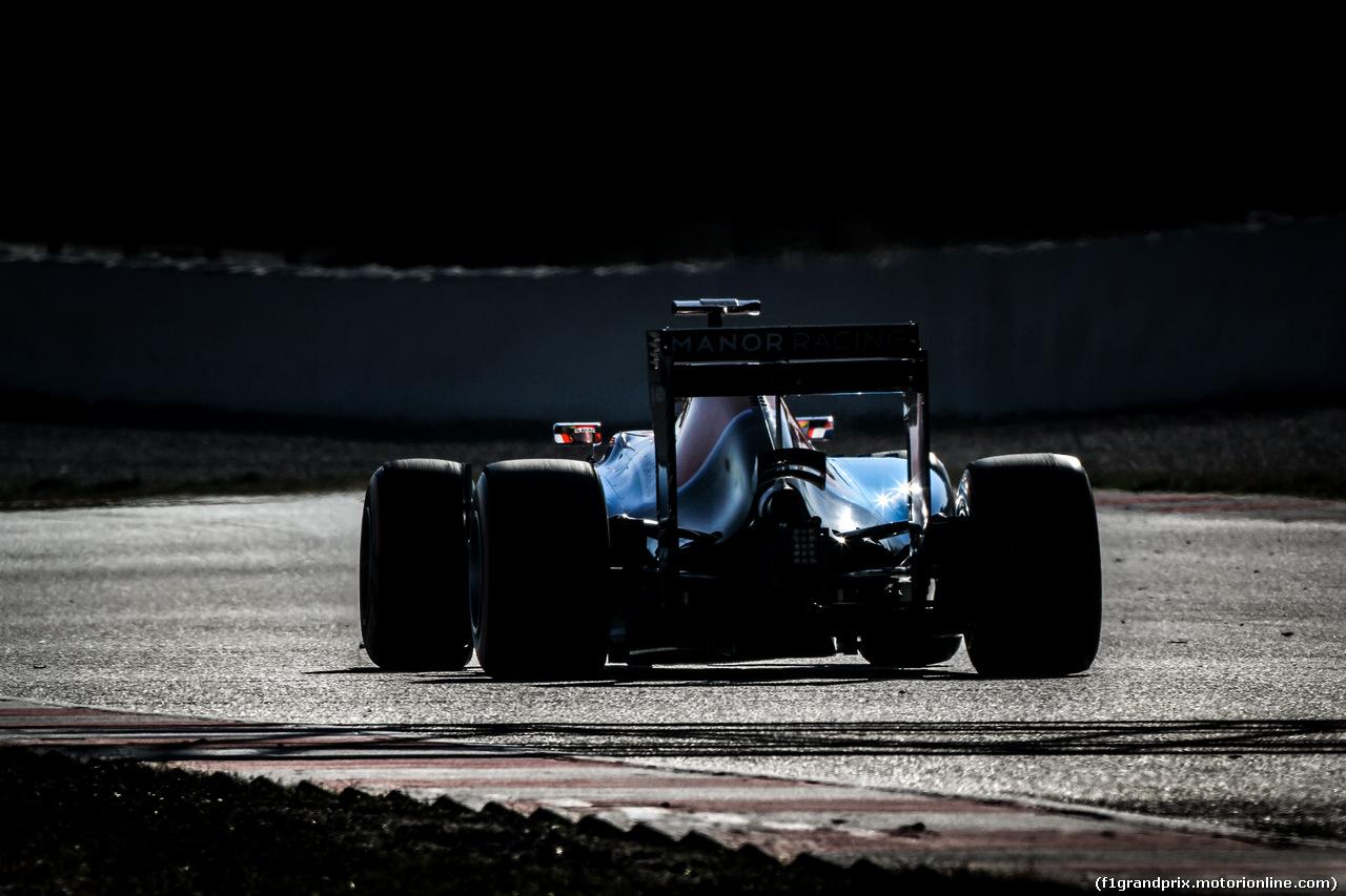 TEST F1 BARCELLONA 24 FEBBRAIO, Rio Haryanto (IDN) Manor Racing MRT05. 24.02.2016.