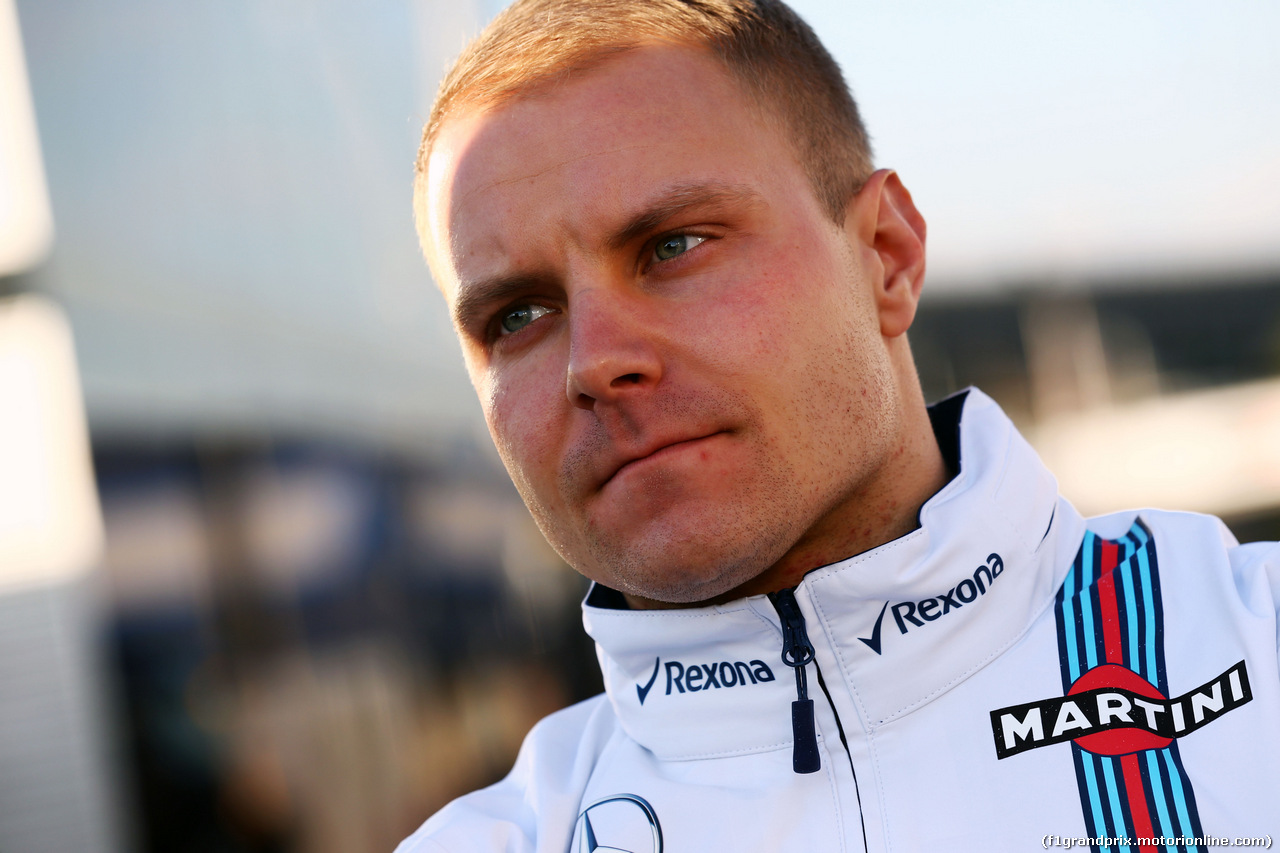 TEST F1 BARCELLONA 24 FEBBRAIO, Valtteri Bottas (FIN) Williams. 24.02.2016.