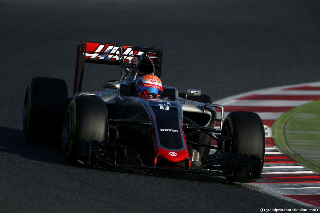 TEST F1 BARCELLONA 24 FEBBRAIO, Romain Grosjean (FRA), Haas F1 Team  24.02.2016.
