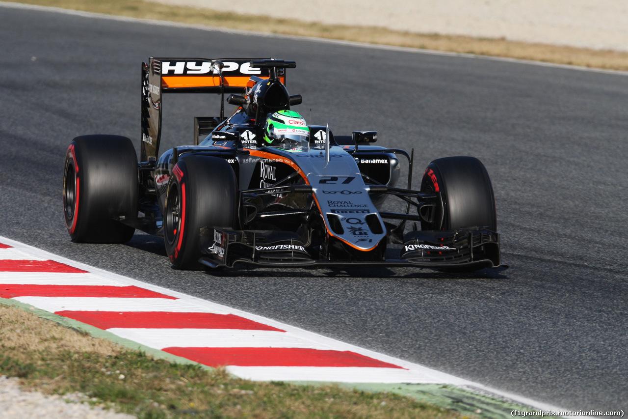 TEST F1 BARCELLONA 24 FEBBRAIO, Nico Hulkenberg (GER) Sahara Force India F1 VJM09. 24.02.2016.