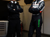 TEST F1 BARCELLONA 24 FEBBRAIO, (L to R): Bradley Joyce (GBR) Sahara Force India F1 Gara Engineer with Nico Hulkenberg (GER) Sahara Force India F1. 24.02.2016.
