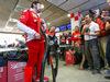 TEST F1 BARCELLONA 3 MARZO, Alberto Antonini (ITA) Ferrari Press Officer discusses the Hola cockpit cover to the media. 03.03.2016.