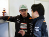 TEST F1 BARCELLONA 3 MARZO, Nico Hulkenberg (GER) Sahara Force India F1 with Jun Matsuzaki (JPN) Sahara Force India F1 Team Senior Tyre Engineer. 03.03.2016.