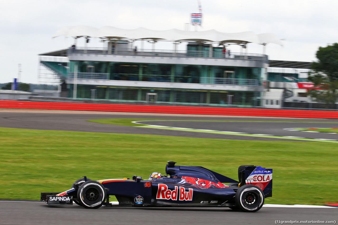 TEST F1 SILVERSTONE 12 LUGLIO, Carlos Sainz Jr (ESP) Scuderia Toro Rosso STR11. 12.07.2016.