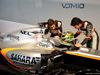 FORCE INDIA VJM10, (L to R): Alfonso Celis Jr (MEX) Sahara Force India F1 Development Driver with Sergio Perez (MEX) Sahara Force India F1 e the Sahara Force India F1 VJM10. 22.02.2017.