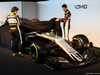 FORCE INDIA VJM10, (L to R): Sergio Perez (MEX) Sahara Force India F1 e team mate Esteban Ocon (FRA) Sahara Force India F1 Team unveil the Sahara Force India F1 VJM10. 22.02.2017. Sahara Force India F1 VJM10 Launch, Silverstone, England. - www.xpbimages.com, EMail: requests@xpbimages.com - copy of publication required for printed pictures. Every used picture is fee-liable. © Copyright: Batchelor / XPB Images