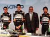 FORCE INDIA VJM10, (L to R): Alfonso Celis Jr (MEX) Sahara Force India F1 Development Driver; Esteban Ocon (FRA) Sahara Force India F1 Team; Dr. Vijay Mallya (IND) Sahara Force India F1 Team Owner; Sergio Perez (MEX) Sahara Force India F1, e the Sahara Force India F1 VJM10. 22.02.2017.
