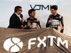 FORCE INDIA VJM10, (L to R): David Croft (GBR) Sky Sports Commentator with Sergio Perez (MEX) Sahara Force India F1 e Esteban Ocon (FRA) Sahara Force India F1 Team. 22.02.2017.