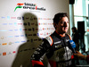 FORCE INDIA VJM10, Alfonso Celis Jr (MEX) Sahara Force India F1 Development Driver with the media. 22.02.2017.