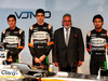 FORCE INDIA VJM10, (L to R): Alfonso Celis Jr (MEX) Sahara Force India F1 Development Driver; Esteban Ocon (FRA) Sahara Force India F1 Team; Dr. Vijay Mallya (IND) Sahara Force India F1 Team Owner; Sergio Perez (MEX) Sahara Force India F1, e the Sahara Force India F1 VJM10. 22.02.2017.