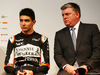FORCE INDIA VJM10, (L to R): Esteban Ocon (FRA) Sahara Force India F1 Team with Otmar Szafnauer (USA) Sahara Force India F1 Chief Operating Officer. 22.02.2017.