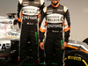 FORCE INDIA VJM10, (L to R): Esteban Ocon (FRA) Sahara Force India F1 Team with team mate Sergio Perez (MEX) Sahara Force India F1 e the Sahara Force India F1 VJM10. 22.02.2017.