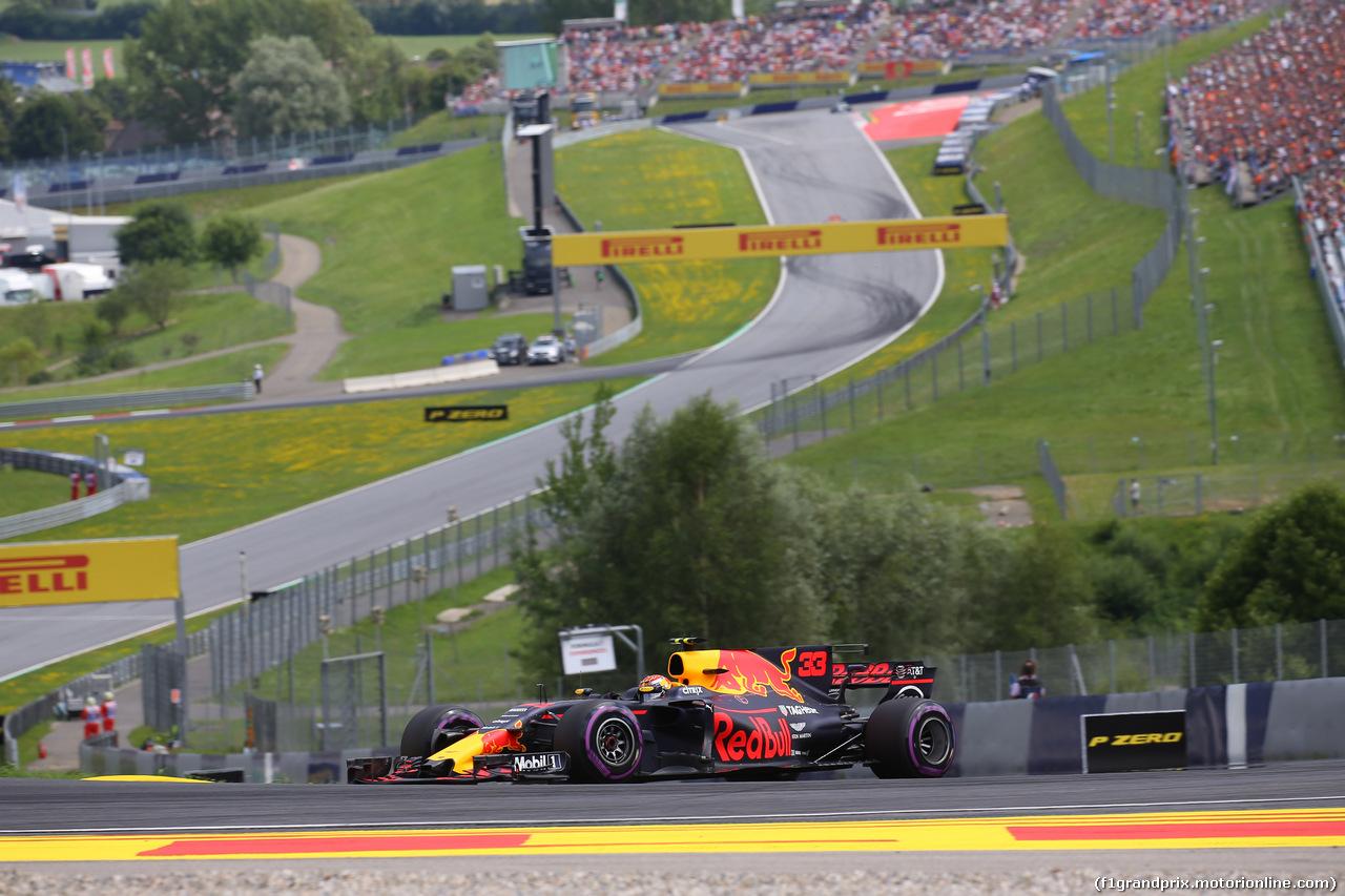 GP AUSTRIA, 08.07.2017- Qualifiche, Max Verstappen (NED) Red Bull Racing RB13