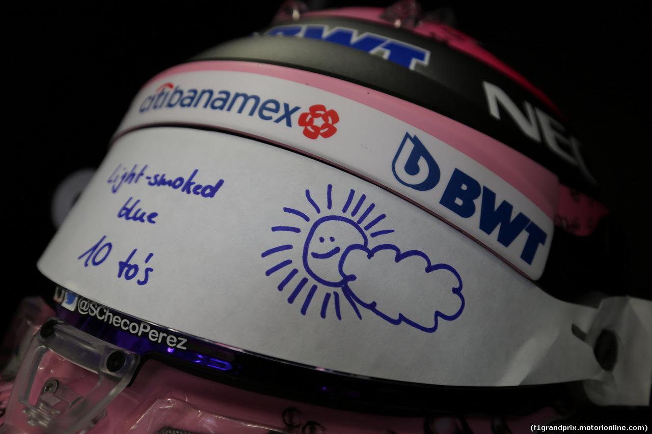 GP AUSTRIA, 09.07.2017- Esteban Ocon (FRA) Sahara Force India F1 VJM10 helmet