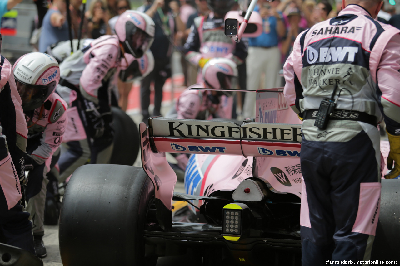 GP AUSTRIA, 09.07.2017- Sahara Force India pit stop