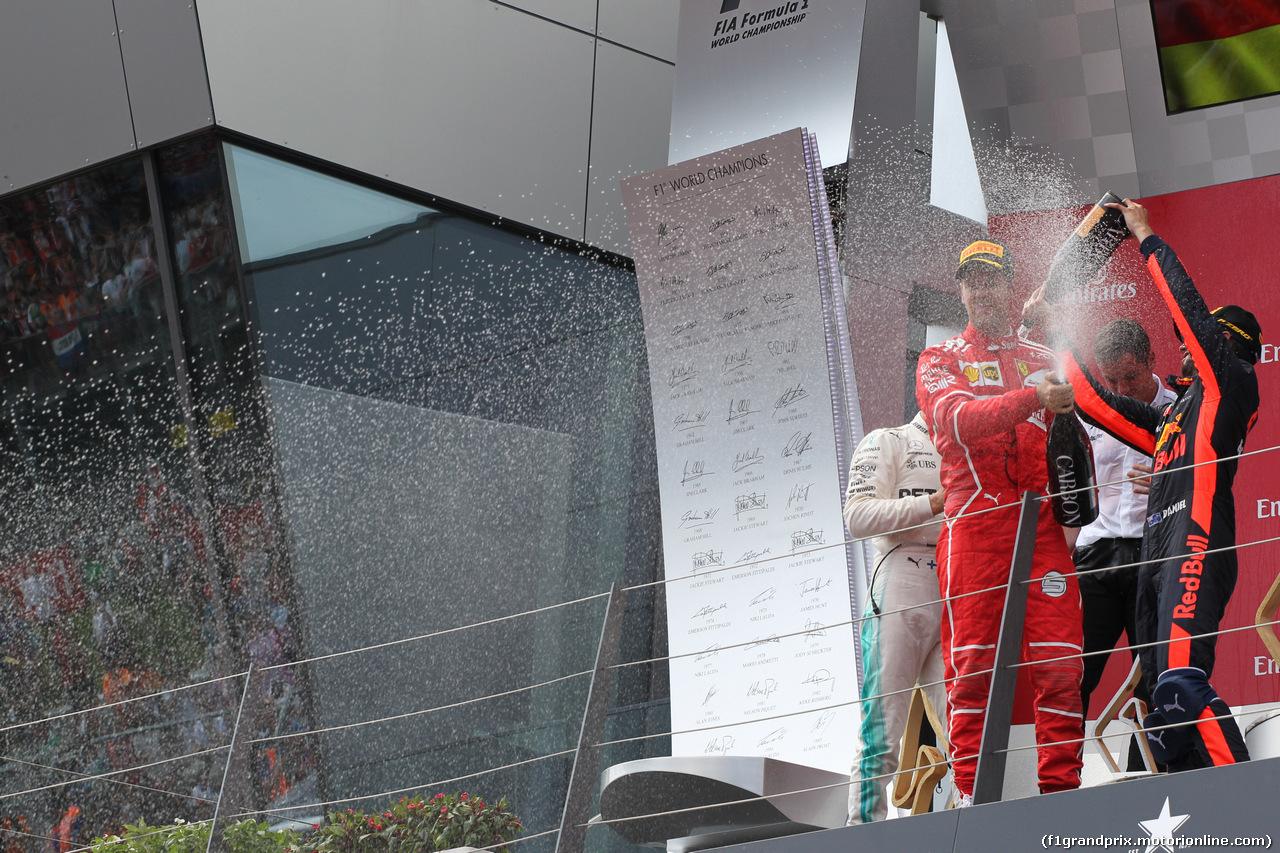 GP AUSTRIA, 09.07.2017- podium,  2nd Sebastian Vettel (GER) Ferrari SF70H