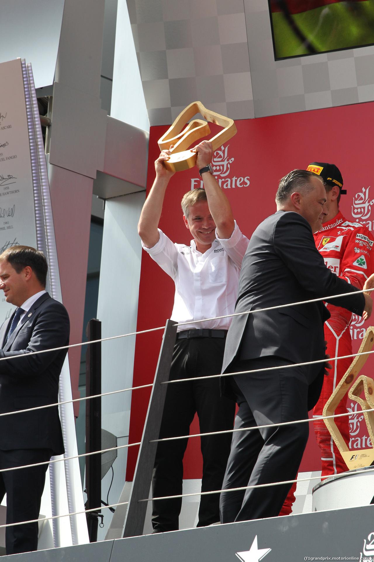 GP AUSTRIA, 09.07.2017- podium, Mercedes Team Representative