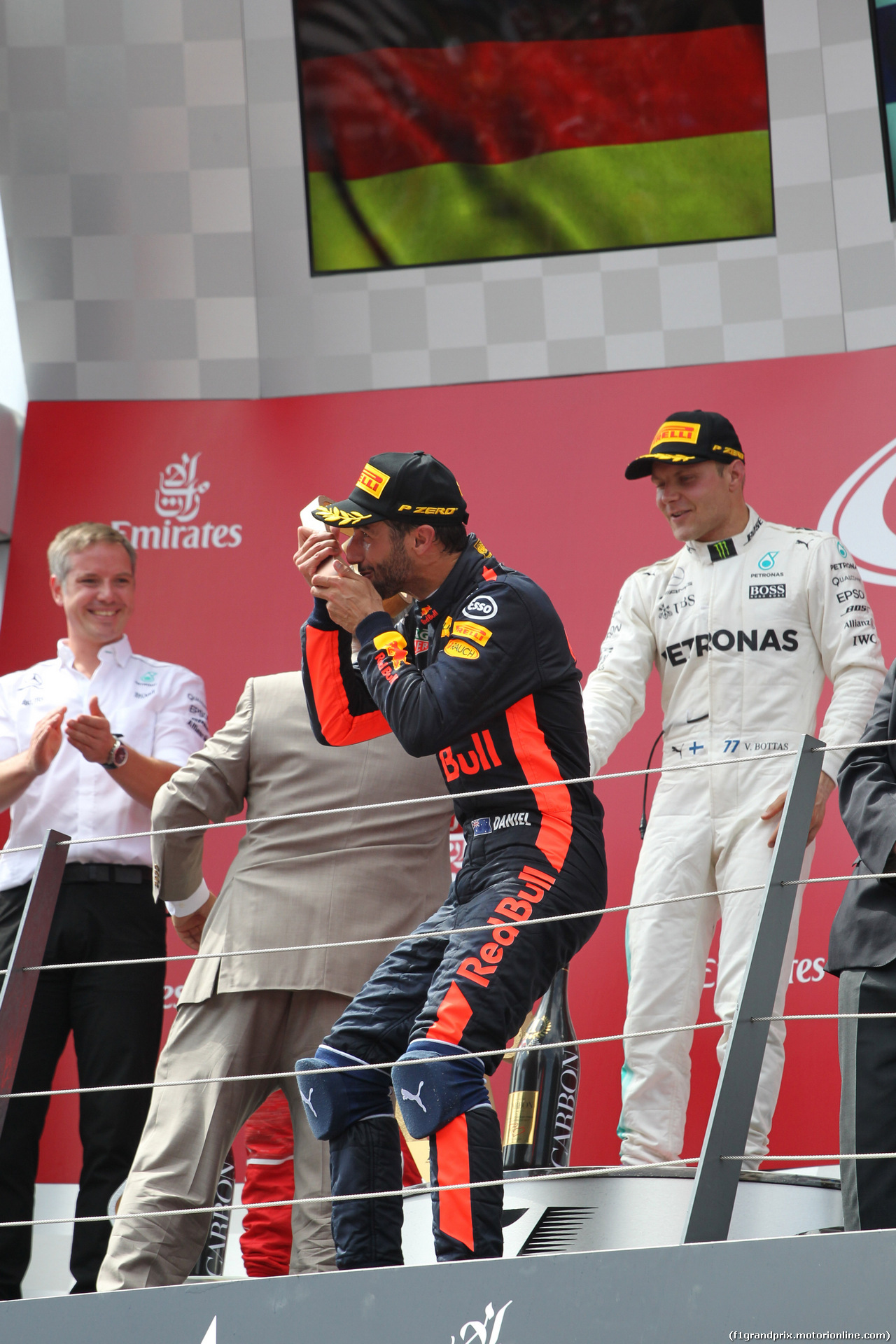 GP AUSTRIA, 09.07.2017- Podium, 3rd Daniel Ricciardo (AUS) Red Bull Racing RB13
