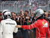GP AUSTRIA, 09.07.2017- Sebastian Vettel (GER) Ferrari SF70H e Valtteri Bottas (FIN) Mercedes AMG F1 W08