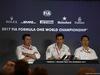GP AUSTRIA, 07.07.2017- Venerdi' Press Conference, Lto R Eric Boullier (FRA) McLaren Racing Director, Toto Wolff (AUT) Sporting Director Mercedes-Benz e Yusuke Hasegawa (JPN) Head of Honda F1 Programme