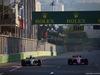 GP AZERBAIJAN, 25.06.2017 - Gara, Lewis Hamilton (GBR) Mercedes AMG F1 W08 e Esteban Ocon (FRA) Sahara Force India F1 VJM10