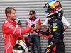 GP BELGIO, 27.08.2017 -  Gara, 2nd place Sebastian Vettel (GER) Ferrari SF70H e 3rd place Daniel Ricciardo (AUS) Red Bull Racing RB13