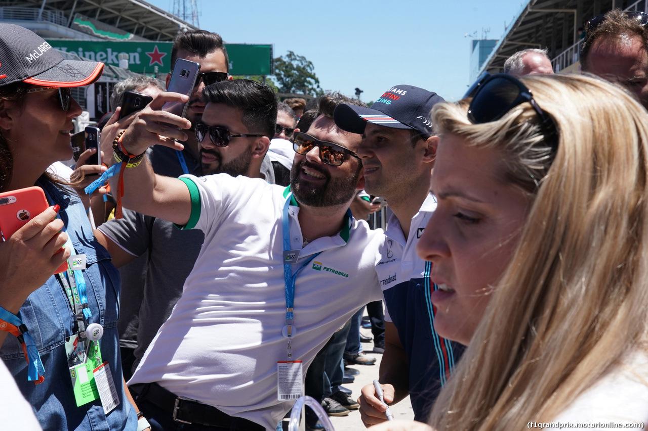 GP BRASILE, 12.11.2017 - Felipe Massa (BRA) Williams FW40