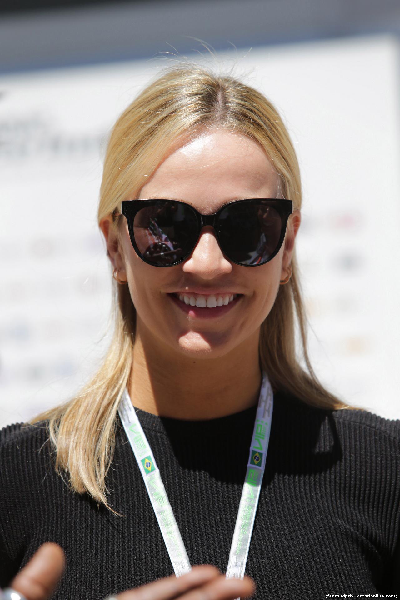 GP BRASILE, 12.11.2017 - Carmen Jorda (ESP) Renault Sport Formula One Team Development Driver