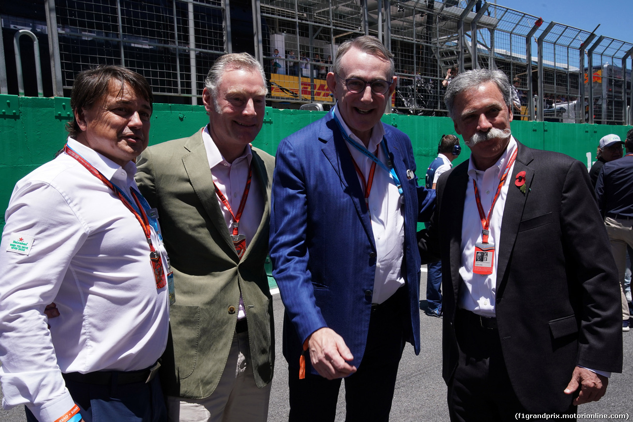 GP BRASILE, 12.11.2017 - Gara, Sean Bratches, Formula 1 Managing Director, Commercial Operations e Chase Carey (USA) Formula One Group Chairman