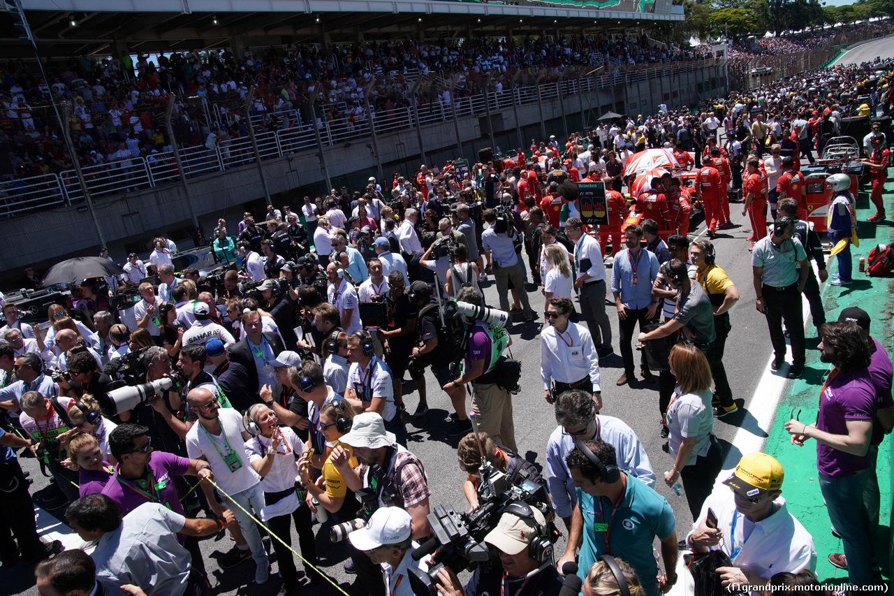 GP BRASILE, 12.11.2017 - Gara, The grid